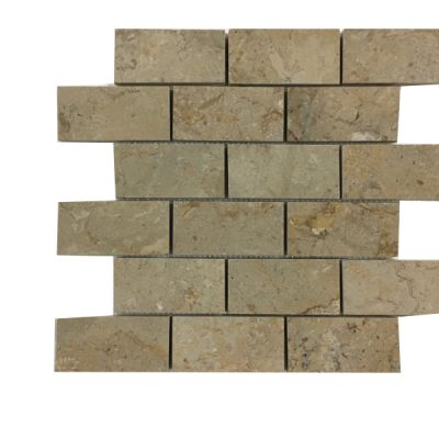"beige marble Sahara Beige Marble 2"" x 4"" Mosaic Tiles (Polished)  by mosaic tile center"