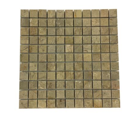 "gold marble Sahara Gold Marble 1"" x 1"" Mosaic Tiles (Polished)  by mosaic tile center"