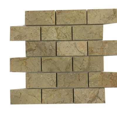 "gold marble Sahara Gold Marble 2"" x 4"" Mosaic Tiles (Polished)  by mosaic tile center"