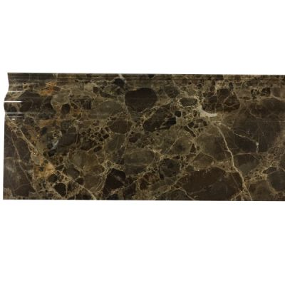"marble Dark Emperador Base Molding 5"" x 12"" x 3/4"" Polished  by mosaic tile center"