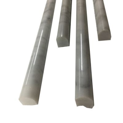 "marble Bianco Carrara 3/4"" x 12"" Pencil Molding Polished  by mosaic tile center"