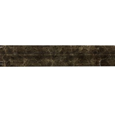 "marble Dark Emperador Chair Rail Molding 2"" x 12"" x 3/4"" Polished  by mosaic tile center"