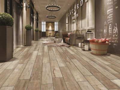 brown, tan porcelain Maple Wheat Wood Series Porcelain Tile