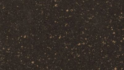 black, gold engineered Viatera Domingo Quartz by lg viatera