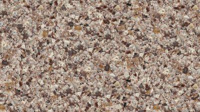 brown, tan engineered Viatera Santiago Quartz by lg viatera