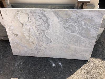 gray, white marble Calacatta Pruschetta