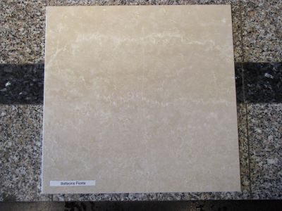 tan, white marble Botticino Fiorito