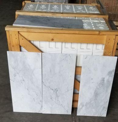 "gray, white marble 12""×24"" BIANCO CARRARA C by eurograniti"