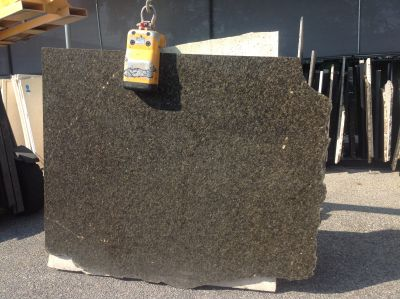 black, gold, green granite Remnant Uba Tuba