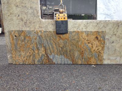 gray, orange granite Remnant Jaguar