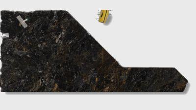 black, brown, gray granite Cosmic Blue