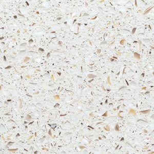 tan, white concrete White Pearl (3cm) by icestone