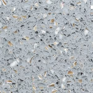 gray, tan, white concrete Pearl Grey (3cm) by icestone