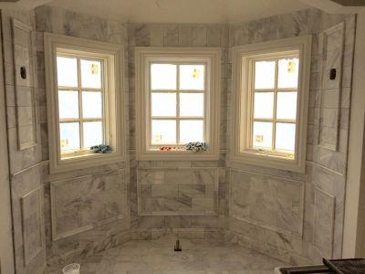 gray, white marble Calacatta Carrara