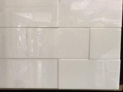 white glass White Glass Thassos 3x6 Subway Tile