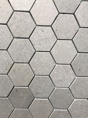 "gray marble Lady Grey Marble 2"" Honed Hexagon Mosaic"