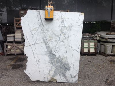 gray, white, yellow marble Remnant Chinchilla Leather