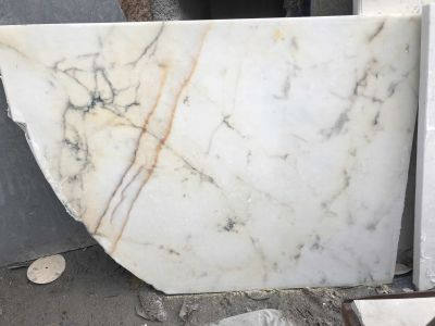 tan, white, yellow marble Calacatta Paonazzo