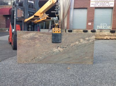 black, green, tan, pink granite Remnant Siena Bordeaux