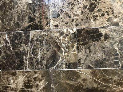 brown, tan, white marble Dark Emperador Polished 6X12 Marble Tile by c-line marble and granite
