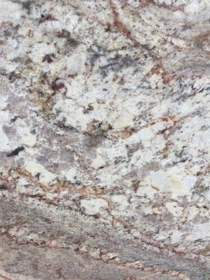 brown, gold, gray, orange, tan, white granite Typhoon Bordeaux 3cm by unique stone