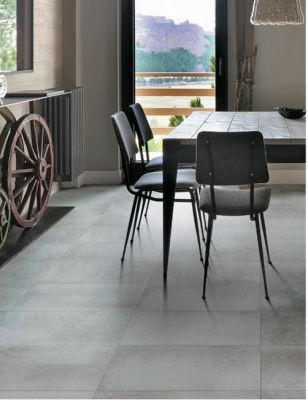 gray porcelain Metallo Gray  by atlas concorde