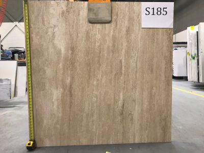 tan, white limestone Travertine