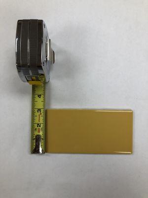 """yellow ceramic 3"""" x 6"""" Glossy Mustard"""