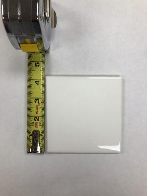 "white ceramic 4"" x 4"" Glossy White"