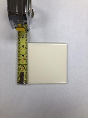 """white ceramic 4"""" x 4"""" Matte Crisp Linen"""