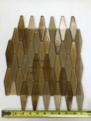 brown glass Shaped Glass Mosaic