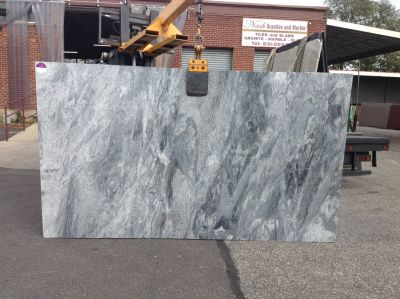 black, gray, white stone Silver Thunder ( Slab )