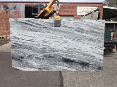 black, gray, white stone Shades Of Grey ( Slab )