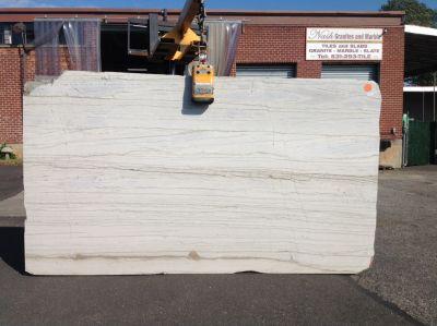 black, gray, tan, white stone Classic White ( Slab )