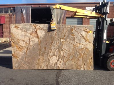 brown, tan stone Breccia Romana ( Slab )