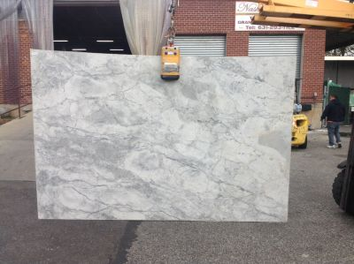 gray, white stone White Fantasy ( Slab )