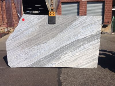 blue, gray, white stone Surf Blue ( Slab )