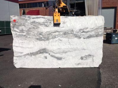 gray, white stone Divine White ( Slab)