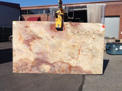 brown, gray, red, tan stone Nacarado ( Slab )