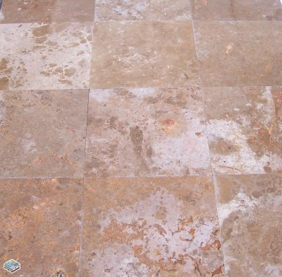 red travertine CCT Euro Red by tile and marble liquidators