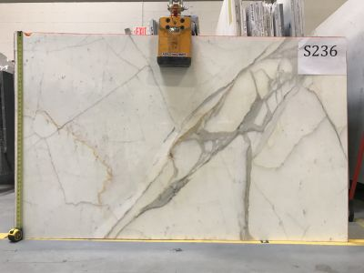 gold, gray, white marble Calacatta Gold
