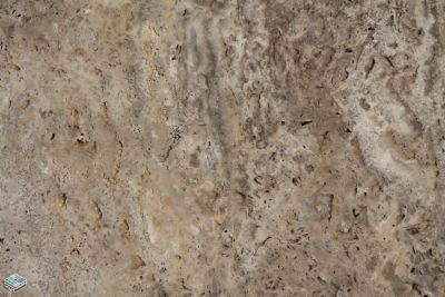 brown, gray, tan travertine CCT Euro Silver by tile and marble liquidators