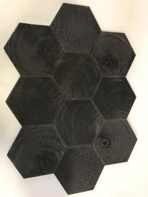 black, gray stone Maltiere Series Hexa Style Abre Black Lapatto Textured by division 9 collaborative