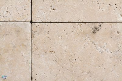 beige travertine Tumb Persian Noce by tile and marble liquidators