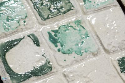 black, gray, green, purple ceramic Eco Cassis Verde by tile and marble liquidators