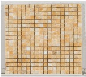 tan, white stone Stone Mosaic Honey Onyx