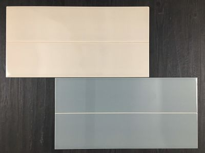 gray, green, tan, white porcelain JADE PLANK