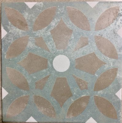 blue, tan, white porcelain Mastery Paul Deco  by mytile