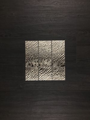 black, gray, white metallic STEEL METAL MOSAIC by five star ceramics group