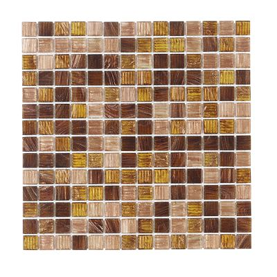 brown, tan glass Verona Gloss Glass Mosaic Tile
